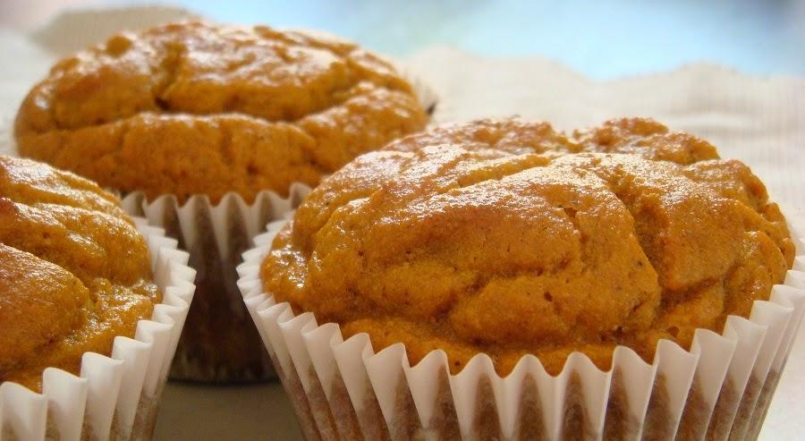 Muffins saludables de calabaza con harina coco