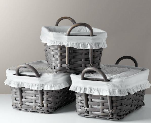 C mo realizar una canasta tejida estilo mimbre - Decorar cestas de mimbre paso a paso ...