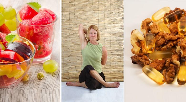 Jugos de frutas, poses de yoga y acidos grasos saludables ayudan a bajar el colesterol alto