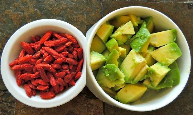 snacks para perder peso aguacate bayas goji