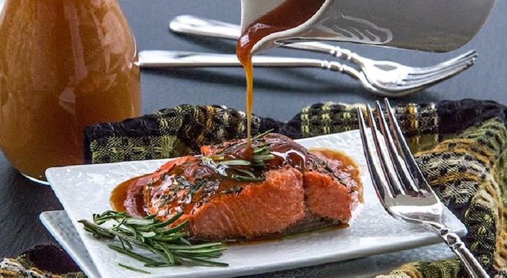 receta de salmón con glaciado de sidra