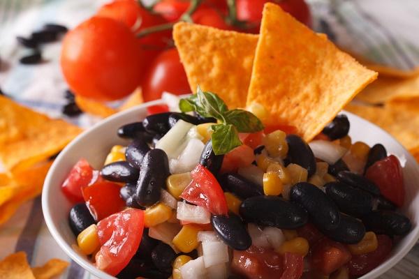snacks para perder peso frijoles negros tomate