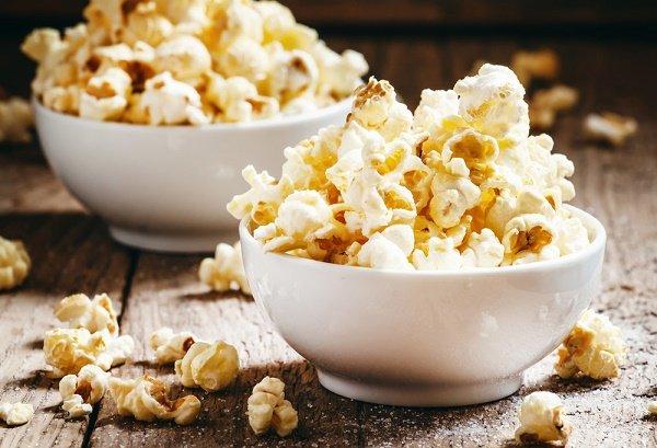snacks para perder peso palomitas