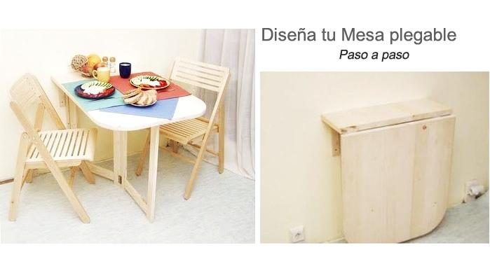Construye una mesa plegable de madera for Diseno de mesa plegable
