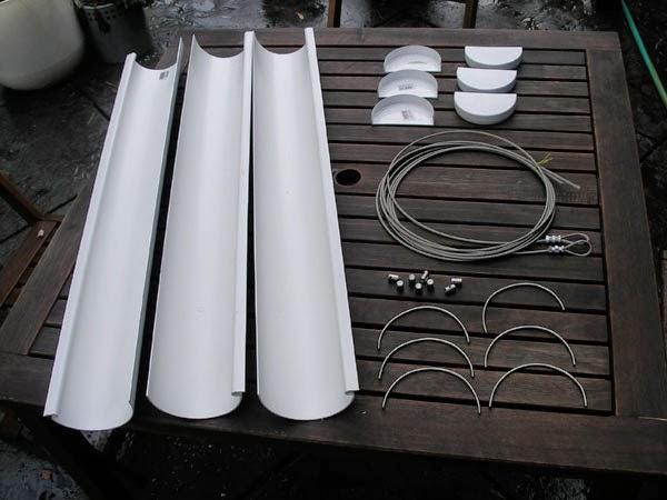Materiales para la construcción del jardín colgante