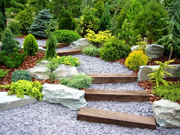 Ideas Para Disenar Un Jardin Con Piedras - Ideas-de-jardin