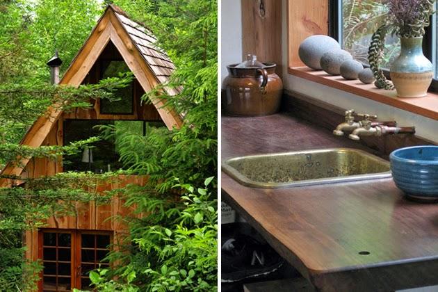 Casa en la selva con arquitectura japonesa