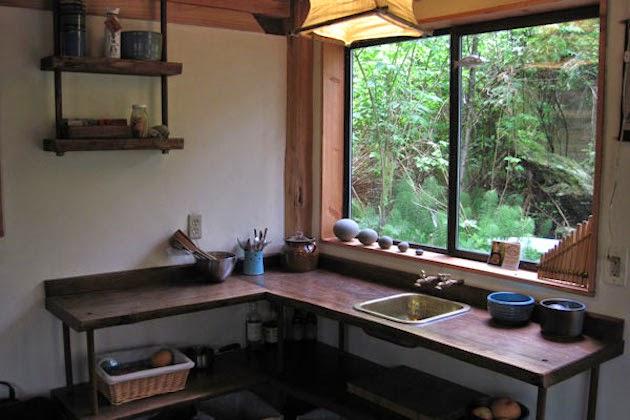 La cocina minimalista de la casa