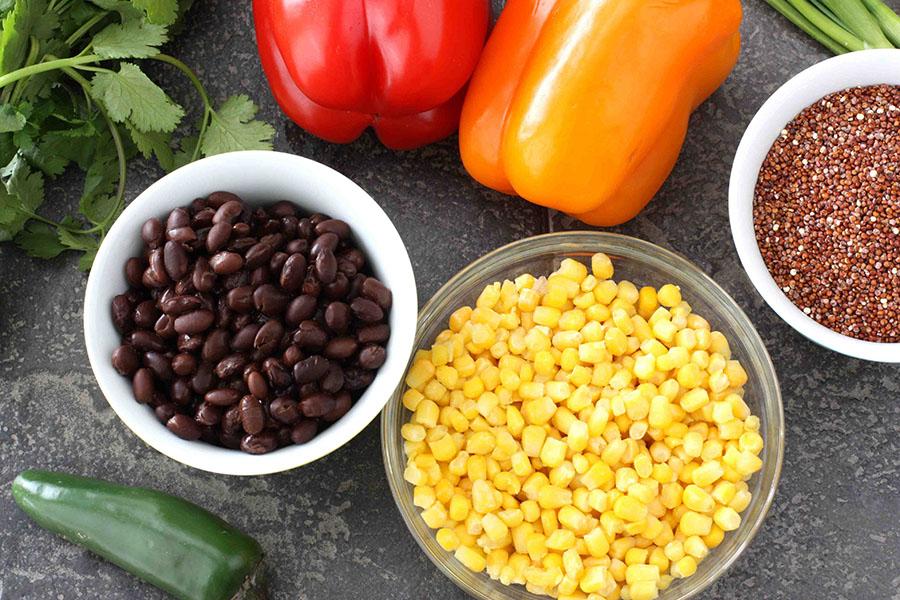 quinoa roja ingredientes