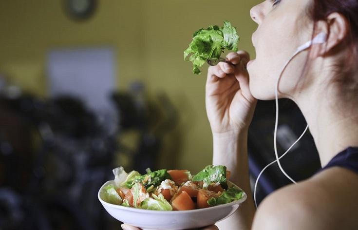 comer antes y después del ejercicio