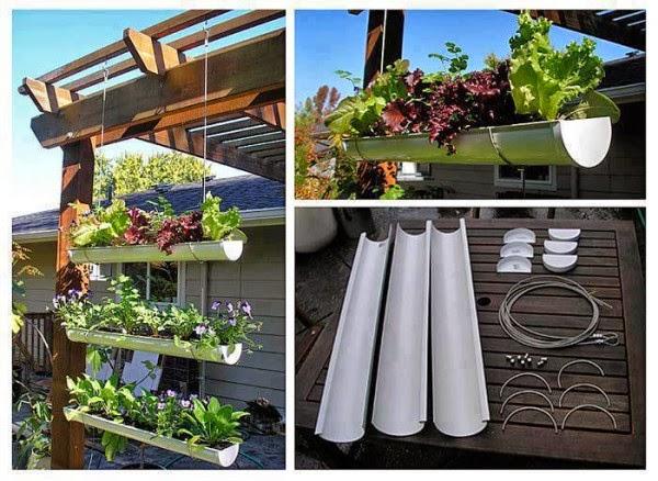 Cómo hacer un jardín colgante con canal