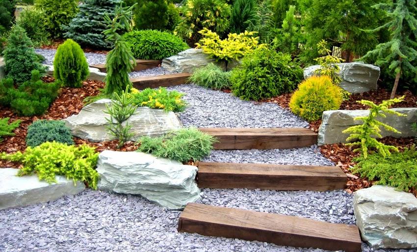 Ideas para dise ar un jard n con piedras for Piedras ornamentales para jardin