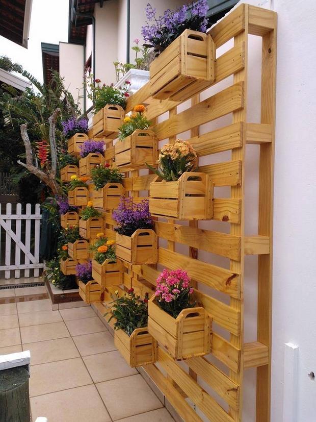 maderas recicladas para jardín