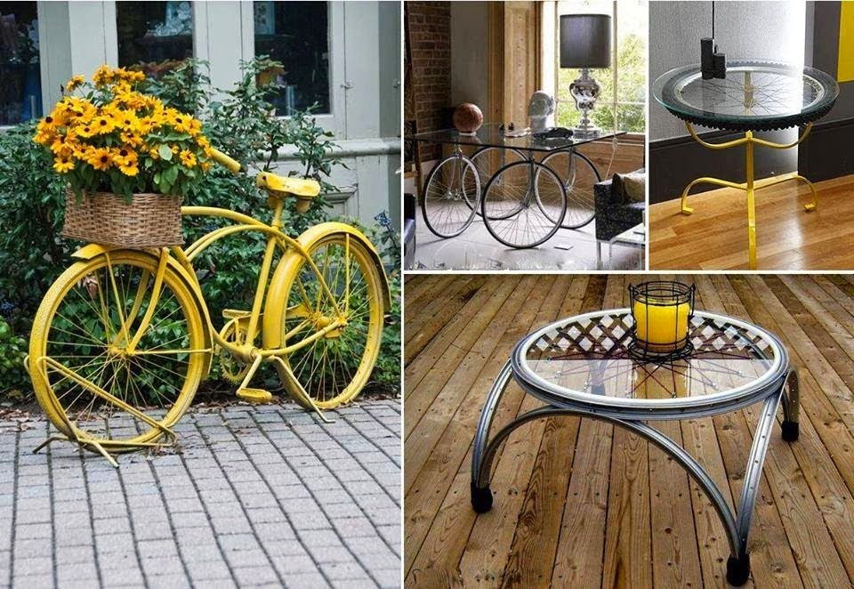 ideas para reciclar bicicletas