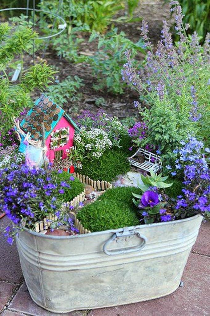 30 ideas para hacer de tus macetas algo m gico for Macetas de piedra para jardin