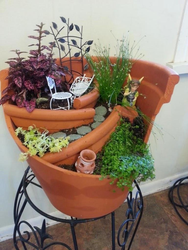 30 ideas para hacer de tus macetas algo m gico for Macetas para jardin