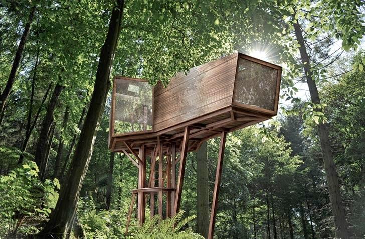 Hermoso proyecto de casa del rbol con mnimo impacto ambiental