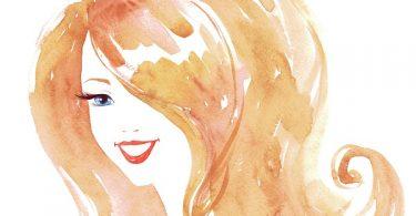 mujer feliz ilustración