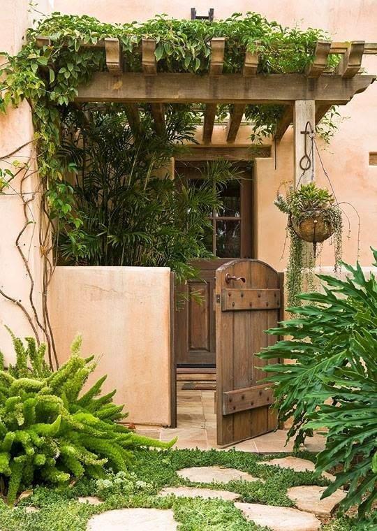 25 ideas de dise os r sticos para decorar el patio - Decoracion para jardines rusticos ...