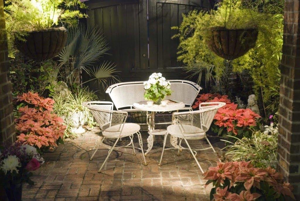 25 ideas de dise os r sticos para decorar el patio - Small space patio plan ...