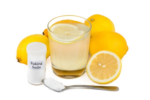 Bicarbonato de sodio y limón