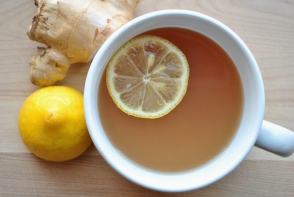 té de limón con jengibre como remedio casero