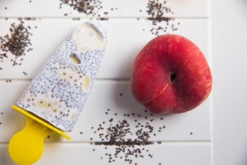 Un helado casero con semillas de chía