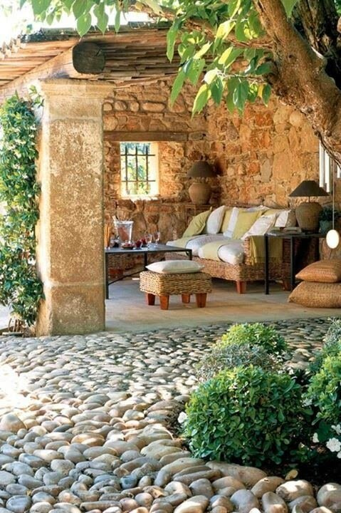 25 ideas de dise os r sticos para decorar el patio - Decorar piso viejo ...