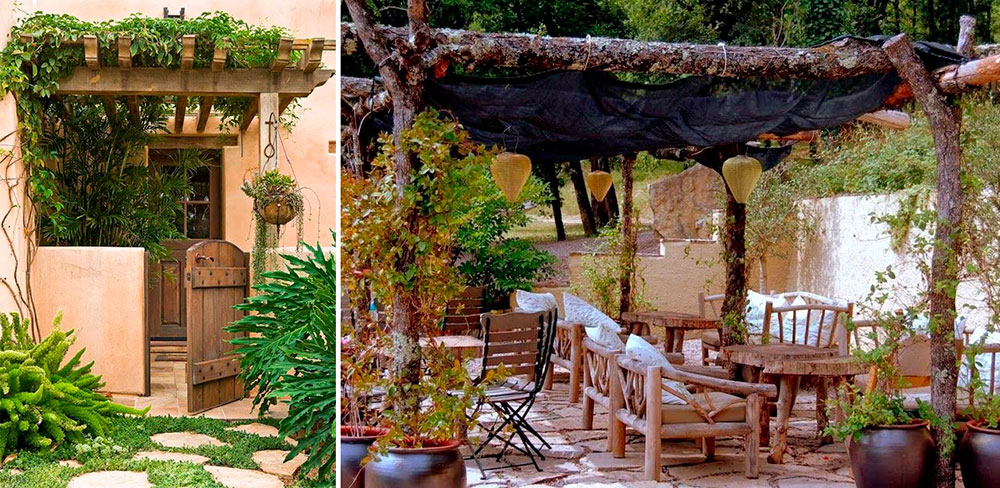 25 ideas de dise os r sticos para decorar el patio for Modelos de jardines rusticos