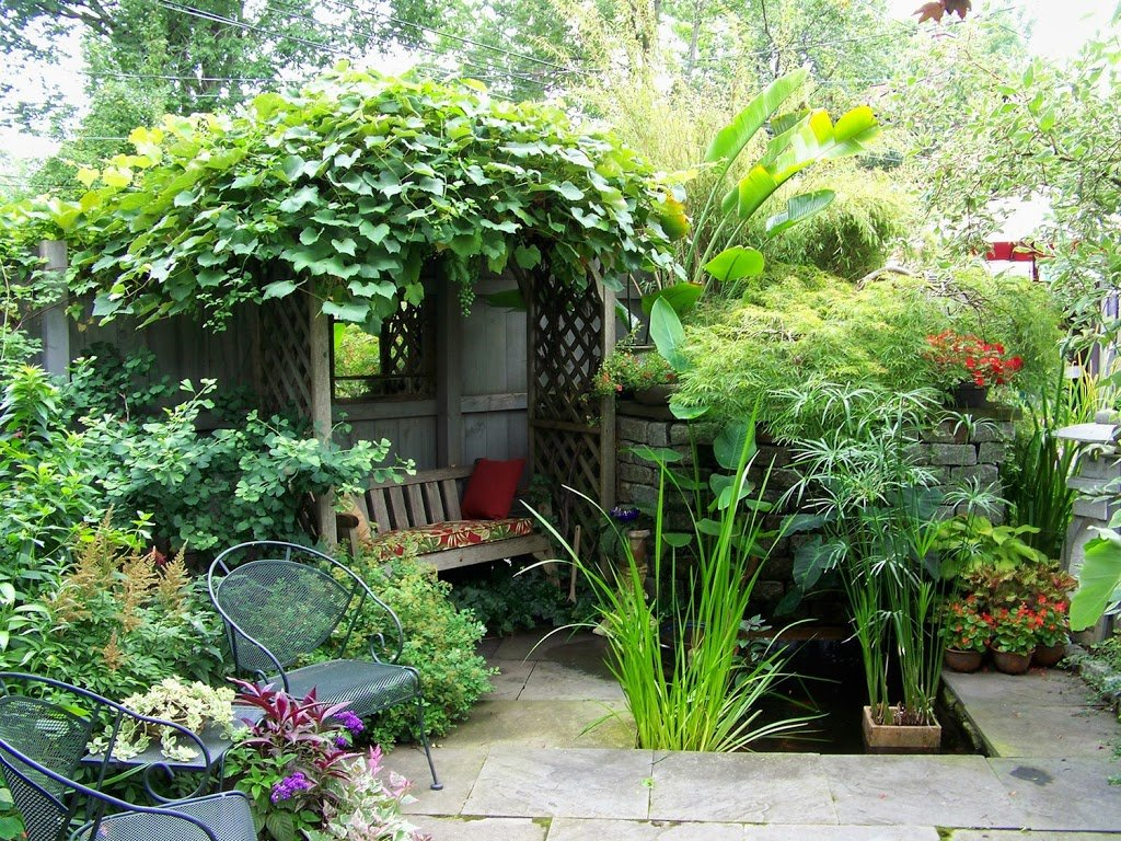 25 ideas de dise os r sticos para decorar el patio - Plantas para patio ...