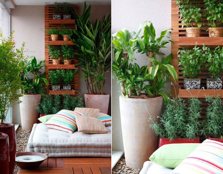 30 ideas para decorar el balc n de tu casa for Departamentos alargados