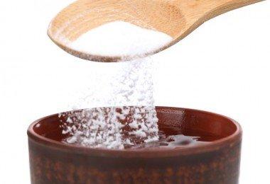 Bicarbonato de sodio vaso
