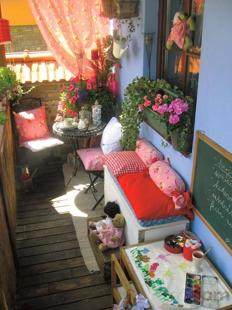 30 ideas para decorar el balc n de tu casa for Pisos decoracion garajes