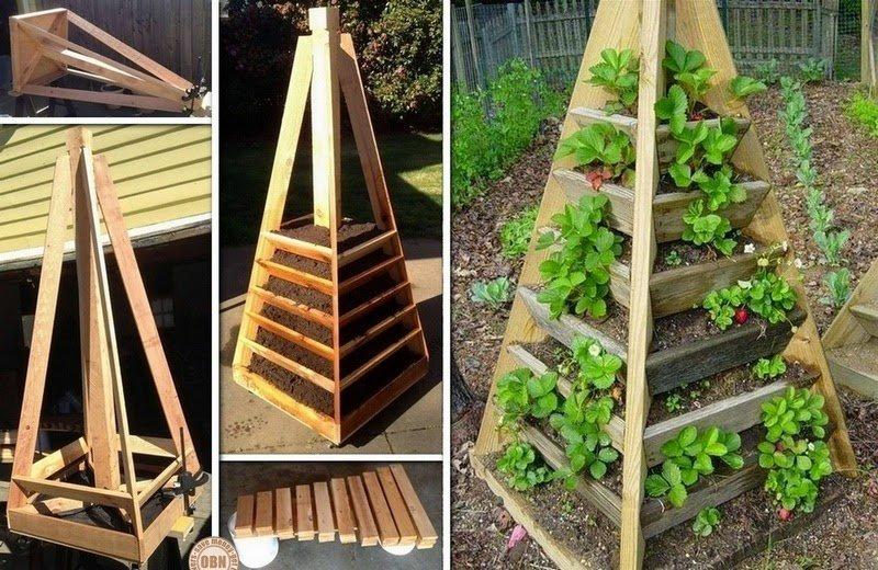 Cmo hacer una jardinera en forma piramidal para ahorrar espacio