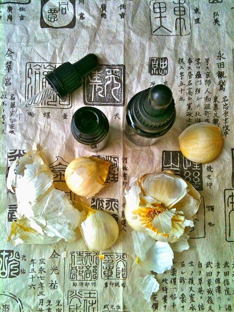 preparación de la receta con ajo