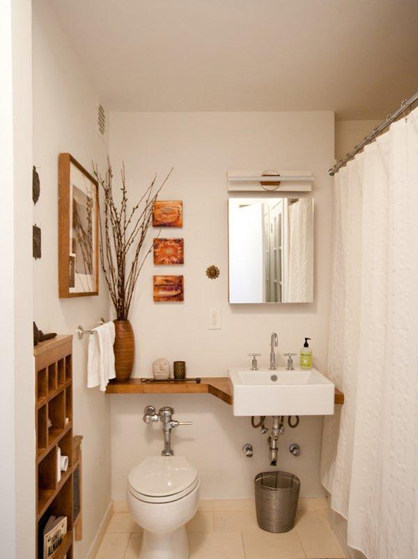 decorar un baño con inodoro y lavabo chico