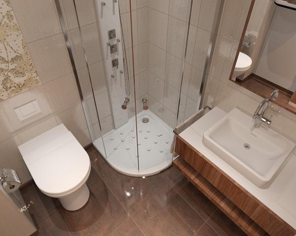 decorar un baño en pequño espacio modernista