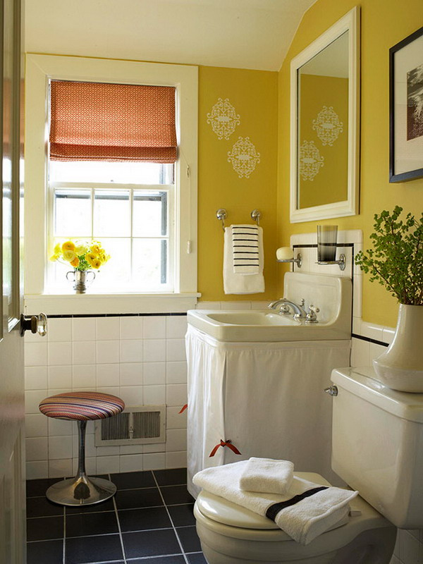 bathroom color ideas 2014 20 ideas para decorar un ba 241 o funcional vida l 250 cida 15724 | small bathroom decorating ideas color