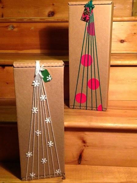 decorar regalos con cartón