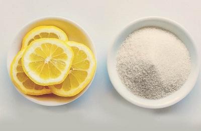 eliminar el vello limón y azúcar