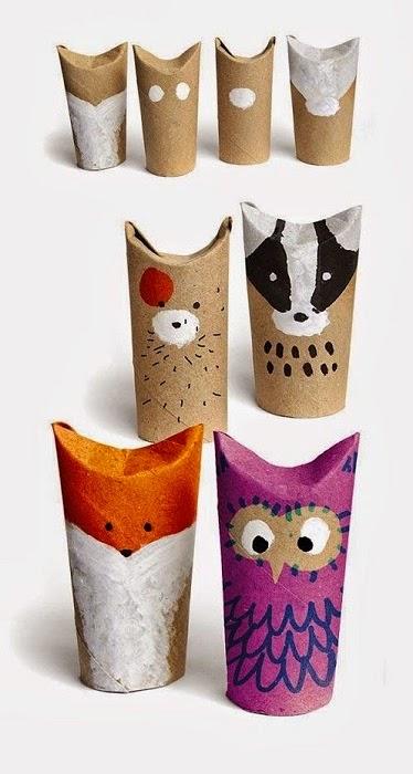 regalos con rollos de cartón