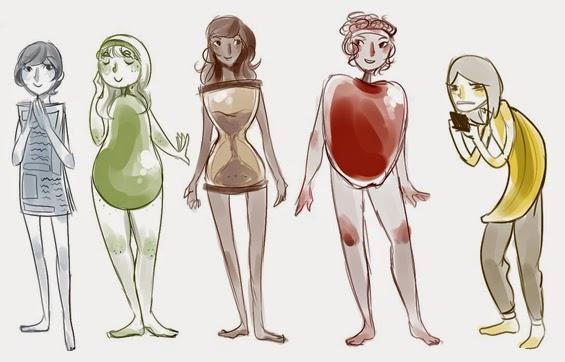 cada tipo de cuerpo femenino