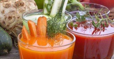 Jugos zanahoria y betabel