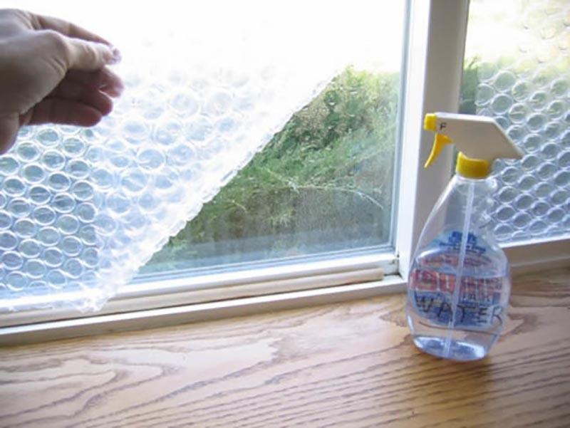 plástico burbujas para ventanas