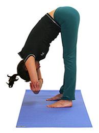 postura de yoga flexión
