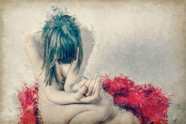 una mujer que padece depresión