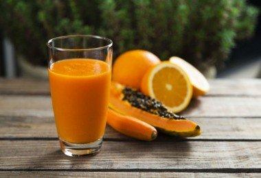 naranja papaya alimentos energia