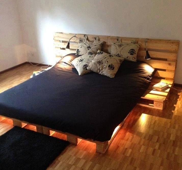Muebles con palets 10 ideas para hacer en casa for Camas con palets