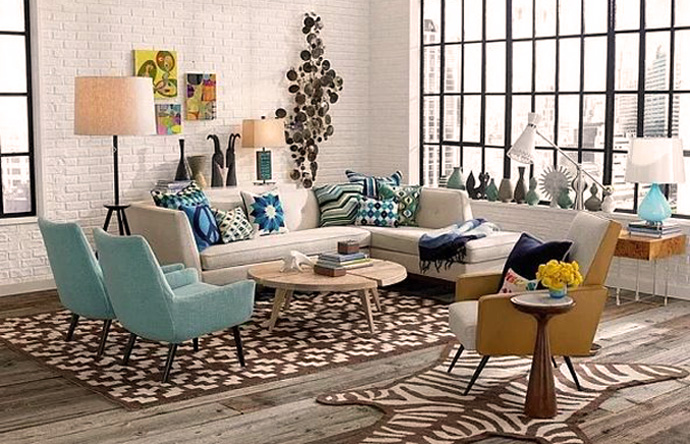 decorar salon estilo vintage