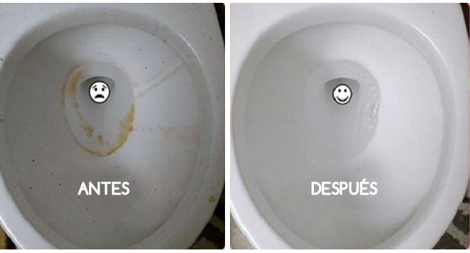 Azulejos Baño Limpiar:inodoro antes y despues limpieza ecológica del hogar